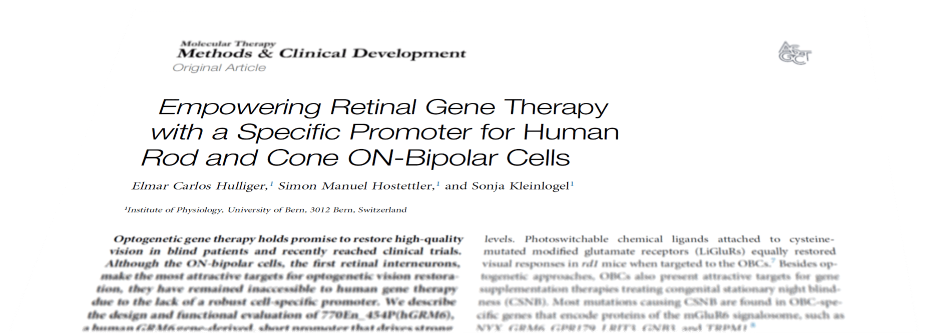 "Featured image for ""Journal Club: Restoring vision – Optogenetic gene therapy targeted at human ON-bipolar cells"""